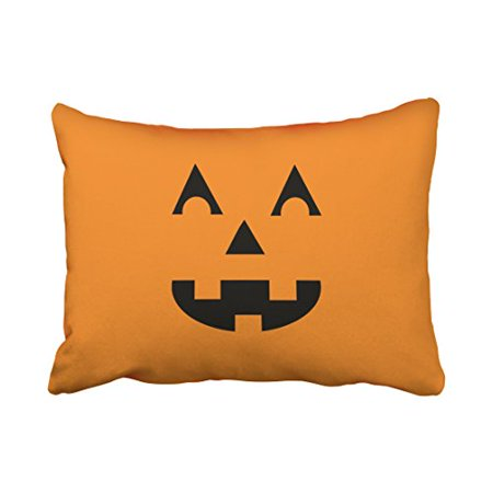 WinHome Cute Vintage Halloween Cartoon Pumpkin Face Laughing Out Loud Simple Pattern Polyester 20 x 30 Inch Rectangle Throw Pillow Covers With Hidden Zipper Home Sofa Cushion Decorative Pillowcases - Halloween Pumpkin Faces Patterns