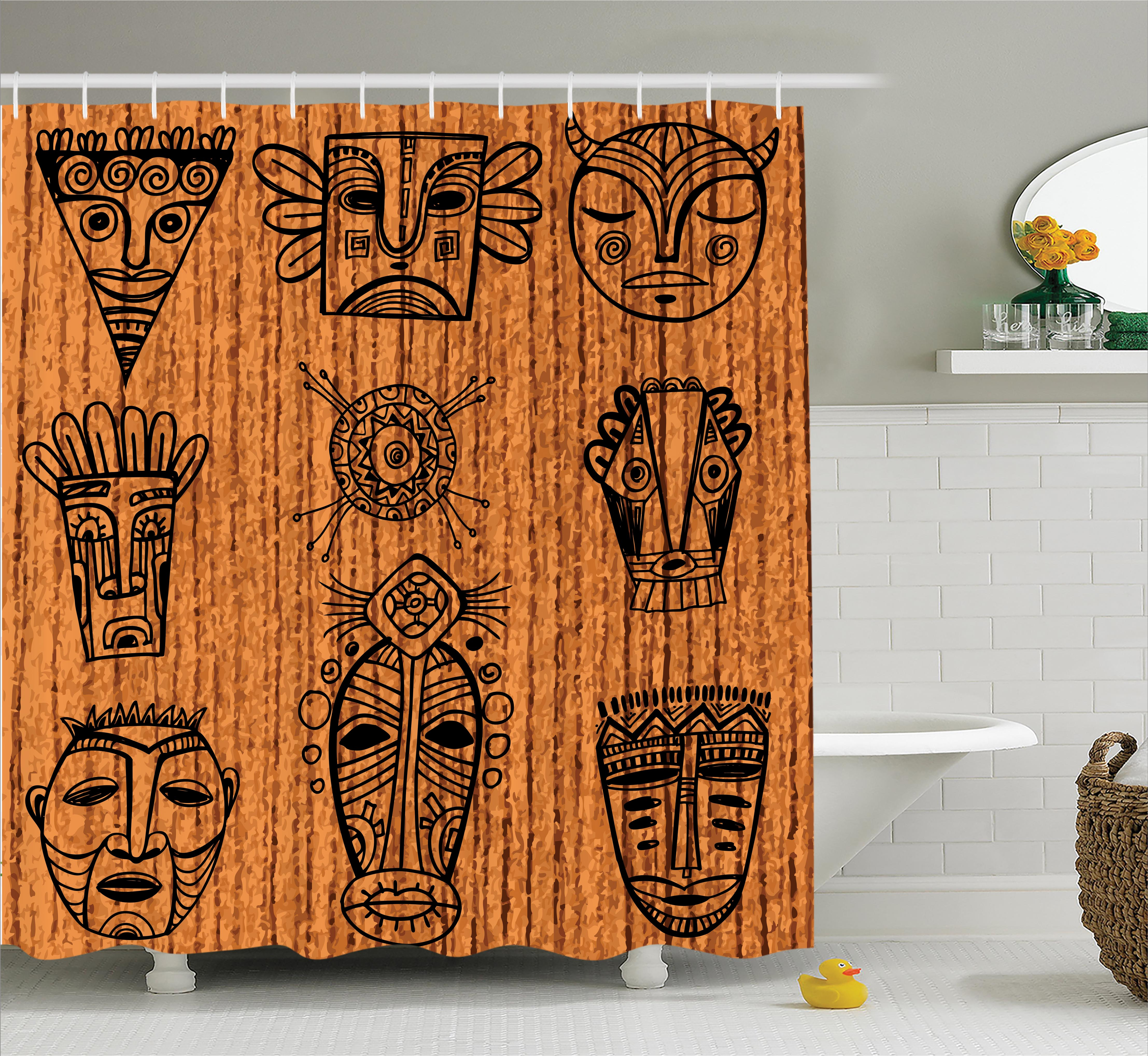 African Shower Curtain Set Ritual And Ceremonial Native Tribal