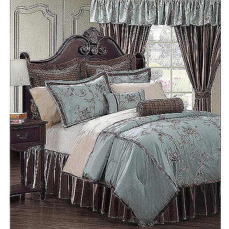 EverRouge Amaryllis 24-Piece Room in a Bag Bedding and Window Treatments (Everrouge Amaryllis 24 Piece Room In A Bag)
