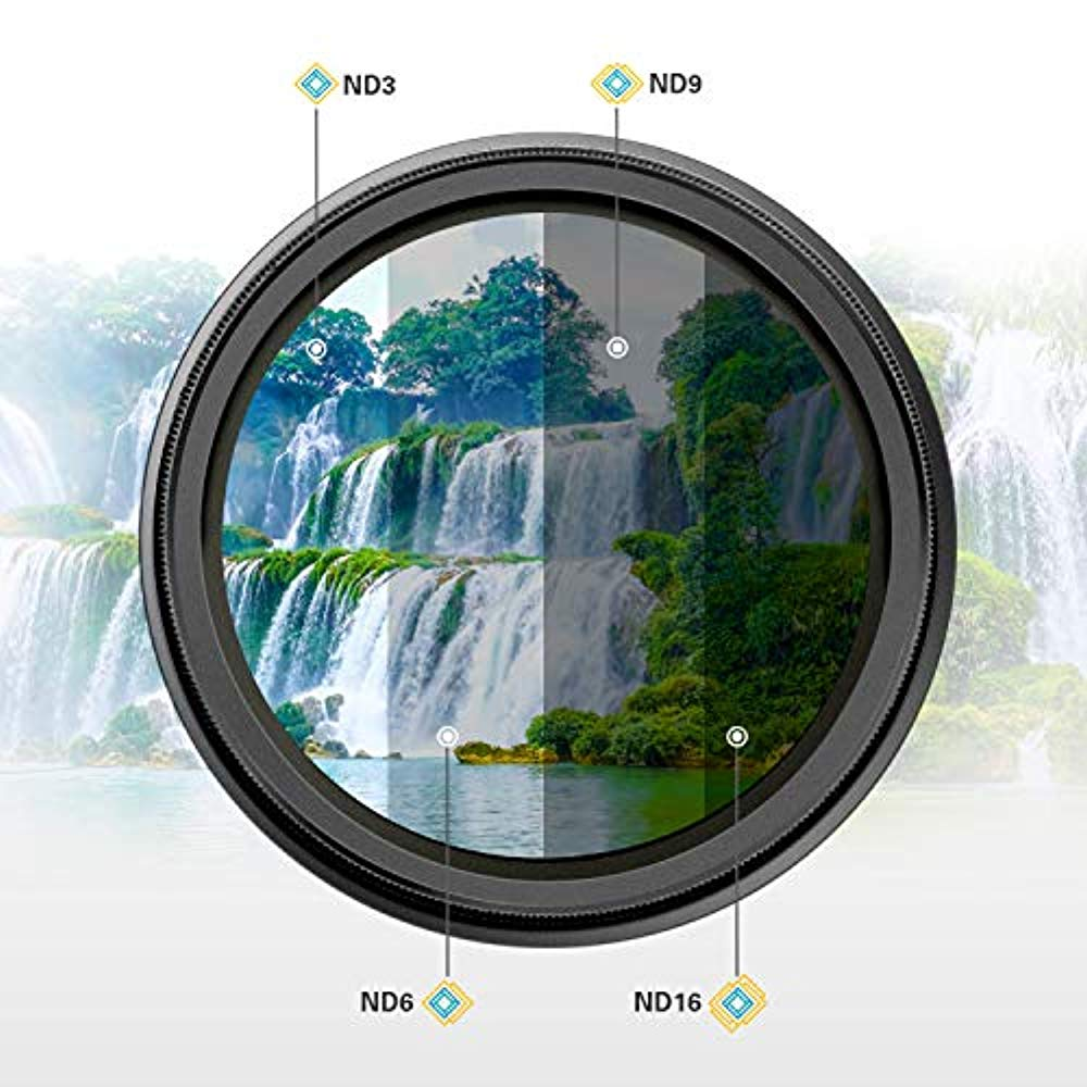 Polaroid Optics 82mm Multi-Coated Variable Range [ND3, ND6, ND9, ND16, ND32, ND400] Neutral Density Fader Filter ND2-ND2000 - Compatible w/ All Popular Camera Lens Models - image 4 de 8