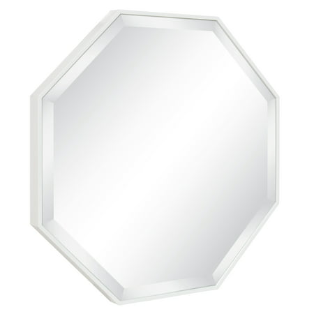 Octagon Mirrors (Kate and Laurel Rhodes Modern Octagon Wall Mirror, White 25x25)