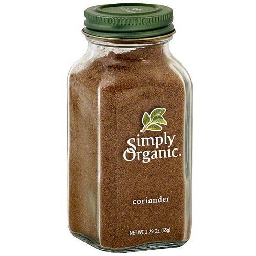 Simply Organic Coriander, 2.7 oz (Pack of 6)