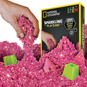 National Geographic Sparkling Pink Play Sand, 2 lbs with 6 Molds of World Wonders