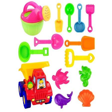 Iuhan 14PCS Kids Beach Toys Set Molds Tools Sandbox Toys On Summer Beach Holiday