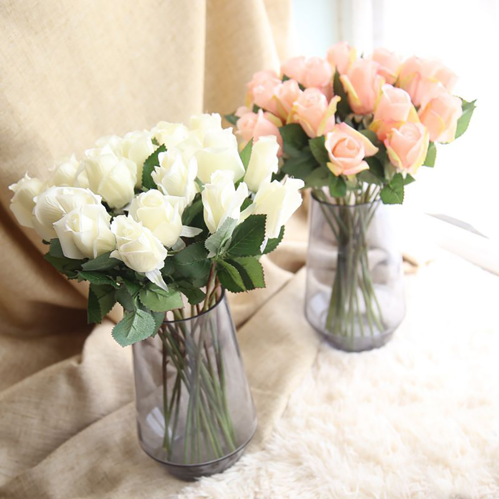 Girl12Queen 1Pc Artificial Fake Rose Silk Flower Wedding Banquet Party Romantic Home Decor