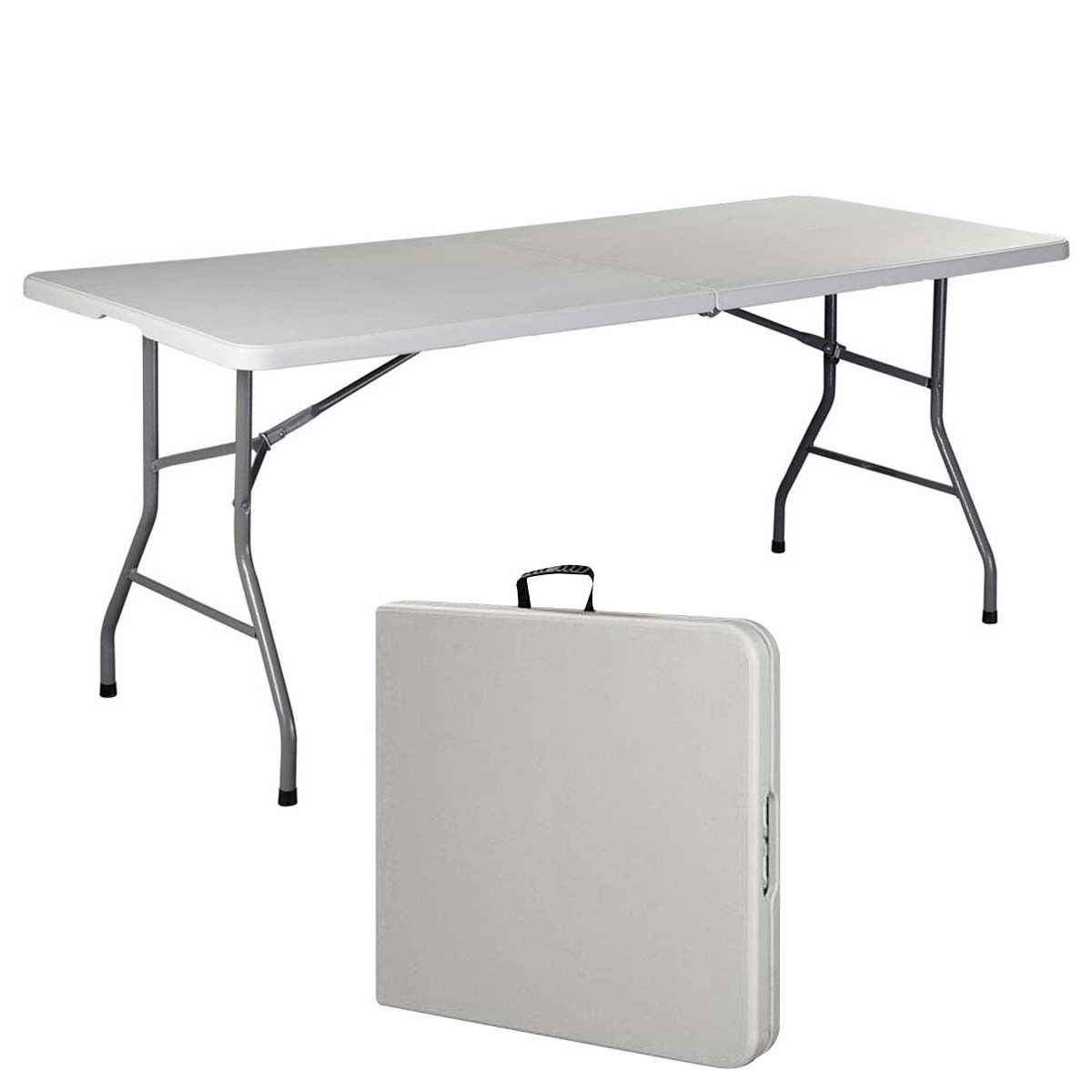 6' Folding Table Portable Plastic Indoor Outdoor Picnic Party Dining Camp Tables by Costway