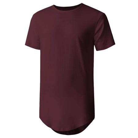 Ma Croix Men's Casual Longtail T-Shirts Hip Hop