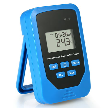 Mini USB Humidity Temperature Data Logger RH TEMP Datalogger Recorder Humiture Recording Meter with Heat Index and Dew Point Test 80,000 Record - Data Indexes