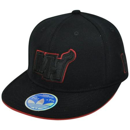 NBA Adidas Miami Heat Black Tonal 210 Flat Bill 6 7 8 - 7 1 4 Stretch Fitted  Hat - Walmart.com 966032d6853