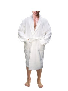 cca3d09096 Product Image Men s 100% Terry Cotton Bathrobe Toweling Robe White Small