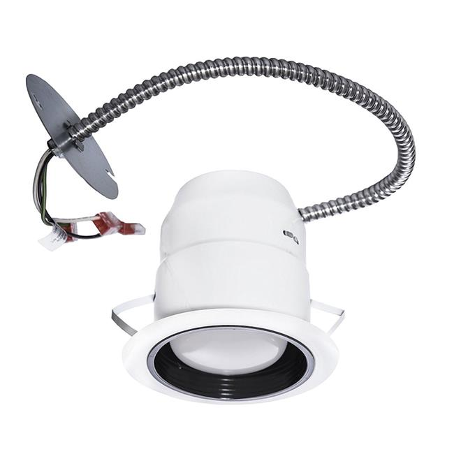 Nadair 6' LED Indoor/Outdoor Dimmable Downlight Spotlight Recessed Light ENERGY STAR Complete Kit, LED BR30 780 Lumens bulb (65 Watts Equivalent) Included, IC & NON-IC rated, 3000K Warm White