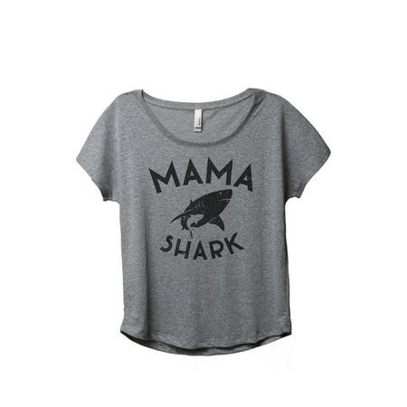 Thread Tank Mama Shark Women's Relaxed Slouchy Dolman T-Shirt Tee Heather Grey - Elephant Lady Shark Tank