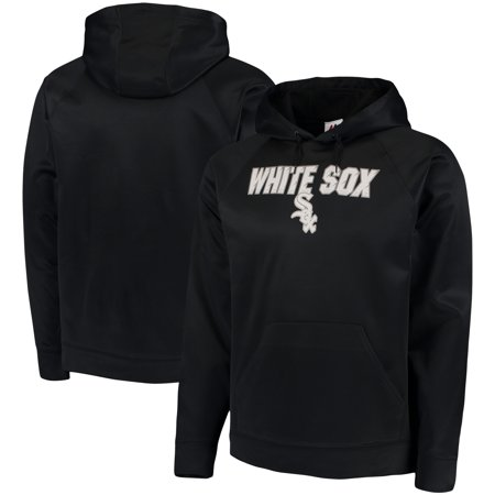 Chicago White Sox Majestic Synthetic Fleece Pullover Hoodie - Black Chicago White Sox Pullover