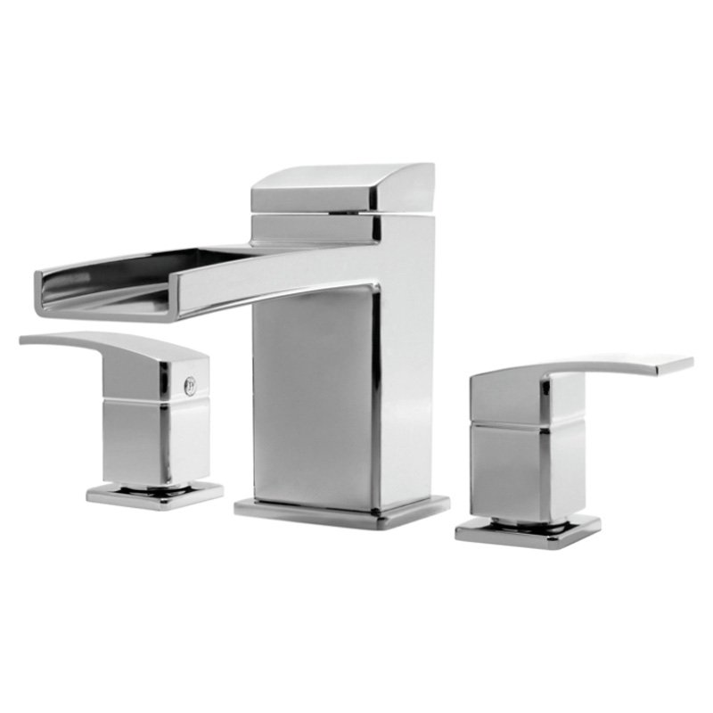 Pfister Kenzo Deck Mounted Roman Tub Waterfall Faucet with Metal Lever Handles, Available in Various Colors by Price-Pfister