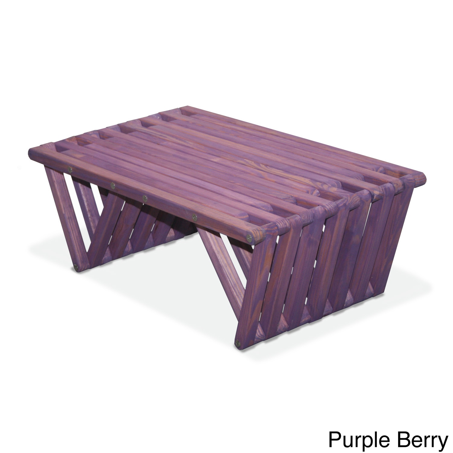Eco Friendly Coffee Table X36 Made in USA Purple Berry