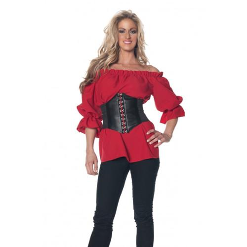 Renaissance 3/4 Sleeve - Red Sexy Adult Womens Halloween Costume