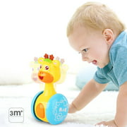 Cartoon Giraffe Tumbler Doll Roly-poly Baby Toys Cute Rattles Ring Bell Newborns 3-12 Month Early Educational Toy
