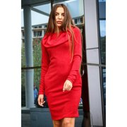 Women'S Fashion Solid Color Sexy Casual Simple Long-Sleeved Hooded Dress