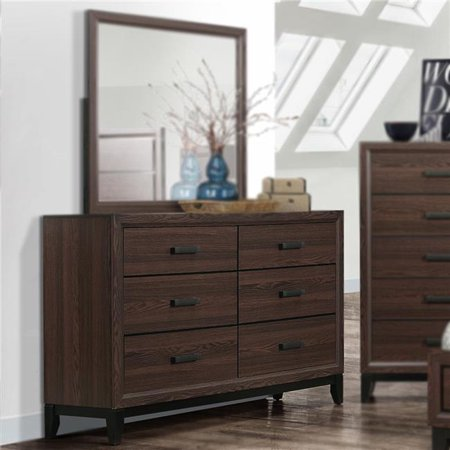 Tristate Apartment Furnishres B0171-D Athens Dresser - Brown & Black, 37 x 59 x 17 in. 47 Chest 37 Sleeve