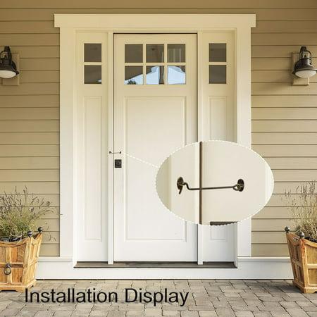 Cabin Hook Eye Latch Hook for Window Slide Shutter Shed Cabinet Barn Doors Fence 2pcs Bronze Tone (Hook And Eye Latch Bronze)