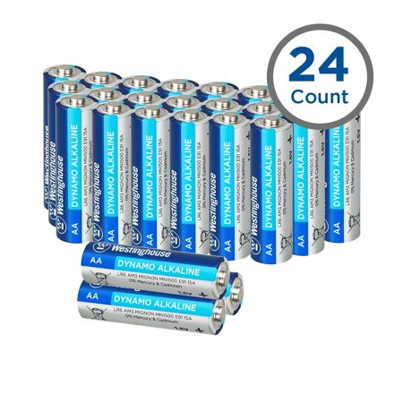 Westinghouse Dynamo Alkaline Batteries AA  (24 counts)