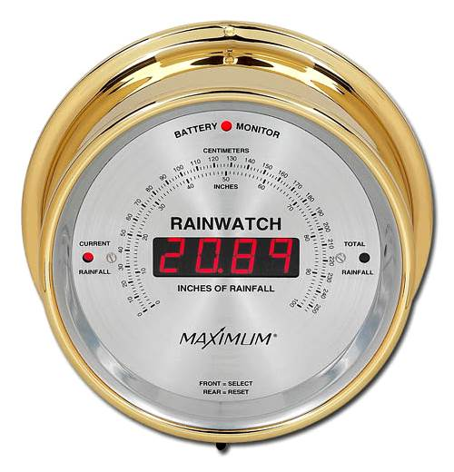 Rainwatch Wireless Digital Rain Gauge by Maximum