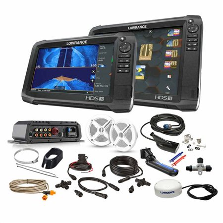 Lowrance HDS-12/HDS-9 Carbon Boat in Box Bundle 000-14928-001 w/ LCD 12 (Lowrance Hds 7 Gen 2 For Sale)