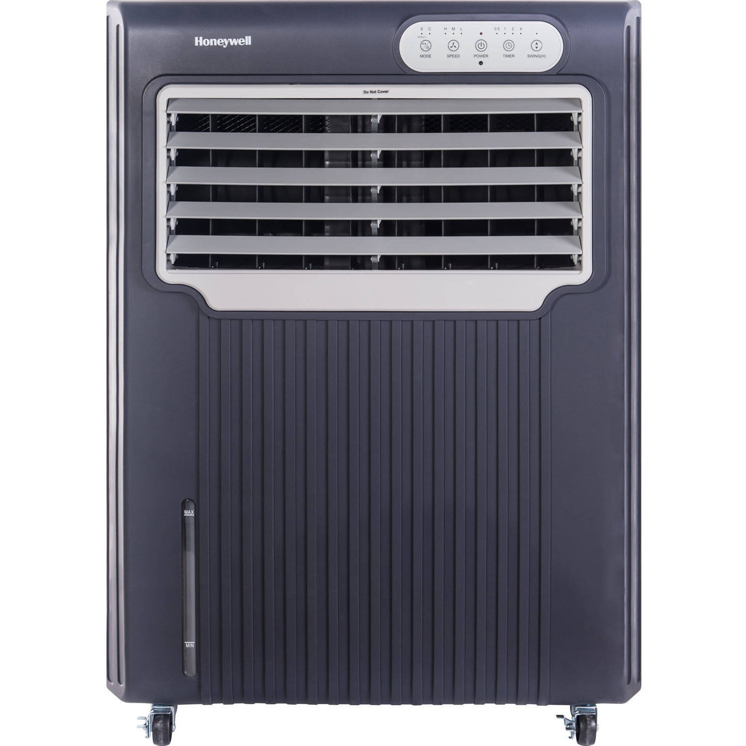 Honeywell CO70PE 588 CFM 342 sq. ft. Indoor/Outdoor Portable Evaporative Air Cooler (Swamp Cooler) with Remote Control, Gray/White