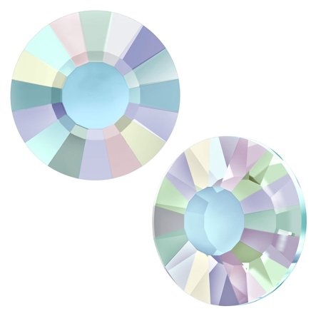 Swarovski Crystal, Low Profile Round Flatback Rhinestone Hotfix SS10 3mm, 36 Pieces, Crystal AB F ()