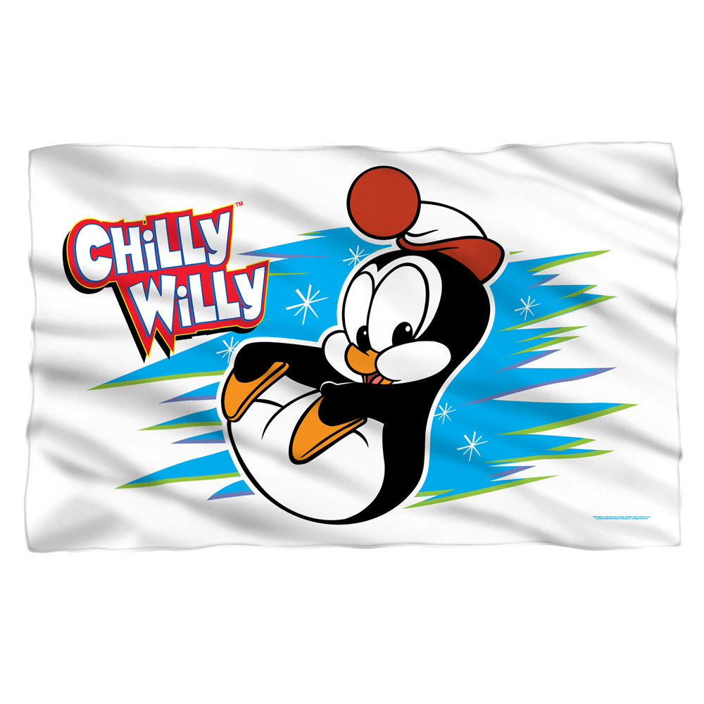 Chilly Willy Chilly Fleece Throw Blanket White One Size