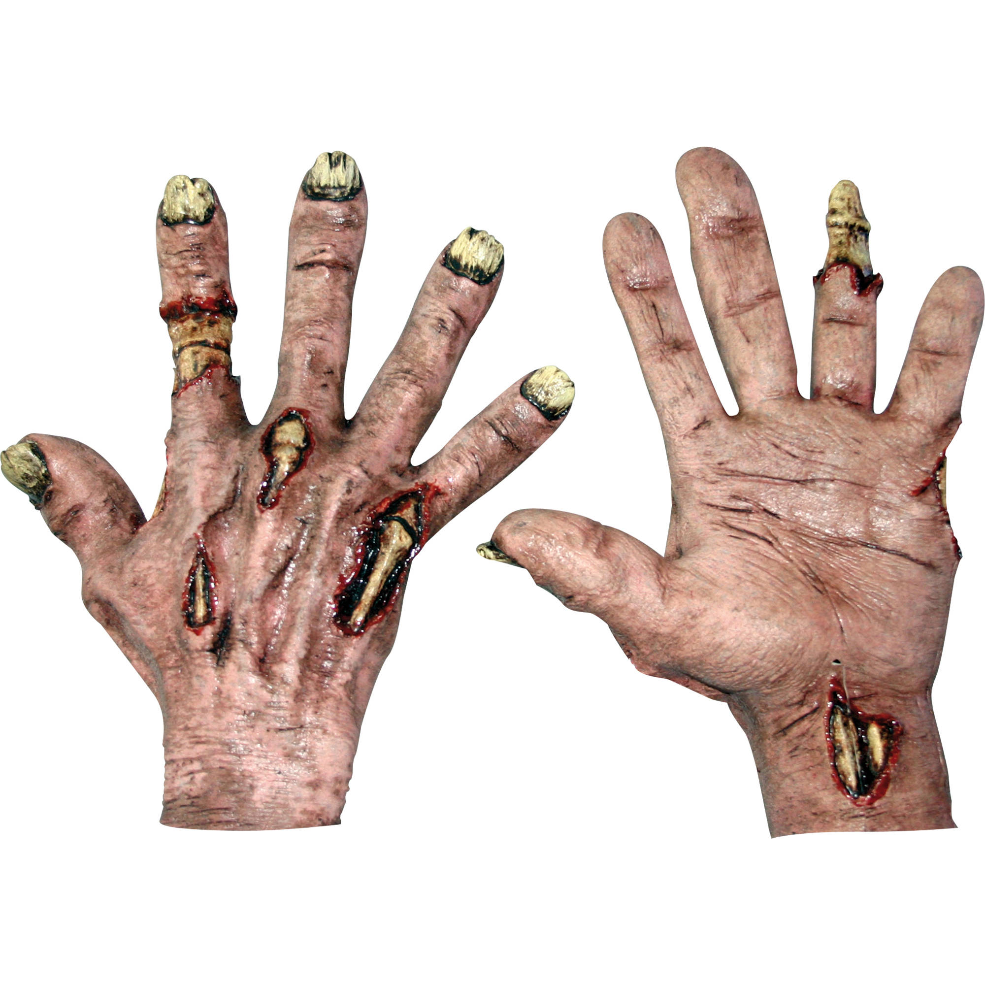 Flesh Zombie Latex Hands Adult Halloween Accessory