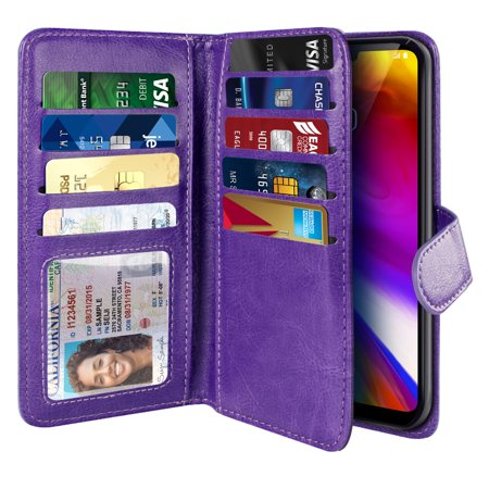 NEXTKIN Multi Card Slots Double Flap Wallet Pouch Case for LG G7 ThinQ G710 6.1