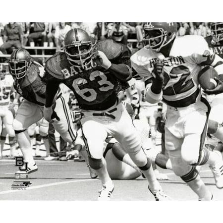 Mike Singletary Baylor University Bears 1978 Action Photo Print