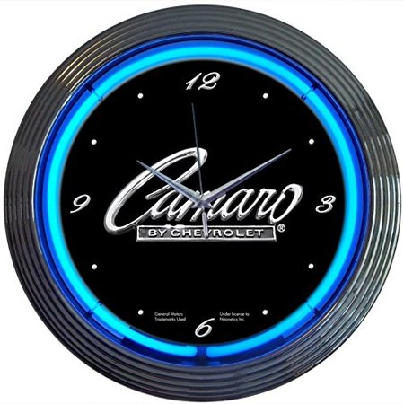 neonetics cars and motorcycles camaro neon wall clock, 15-inch Motorcycle Wall Clock