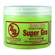 Bronner Brothers Super Gro Extra Lite Double Strength, 6 oz (Pack of 6)