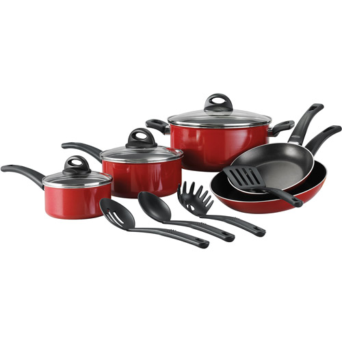 Tramontina 12-Piece Everyday Nonstick Cookware Set, Red by Tramontina