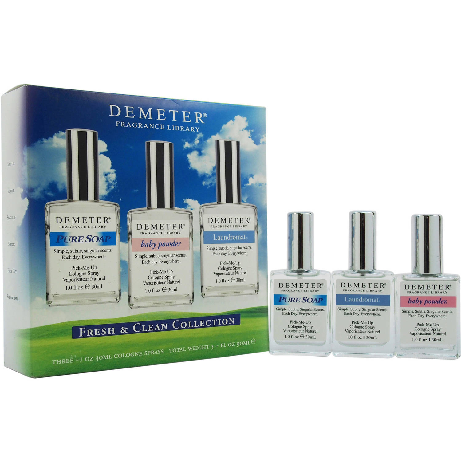 Fresh & Clean Collection by Demeter for Women, 3 Pc Gift Set