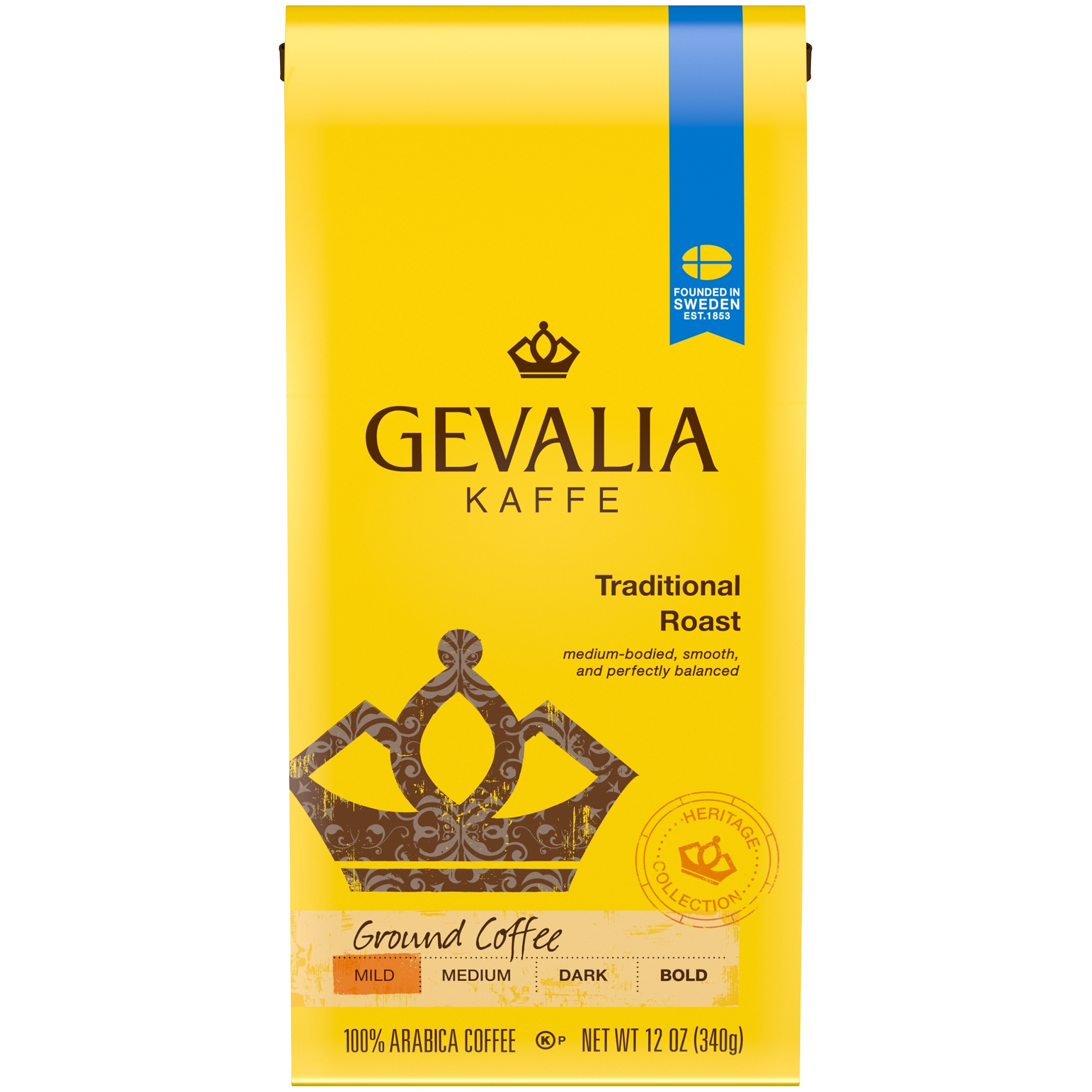 Gevalia Heritage Collection Traditional Roast Ground Coffee 12 oz. Bag
