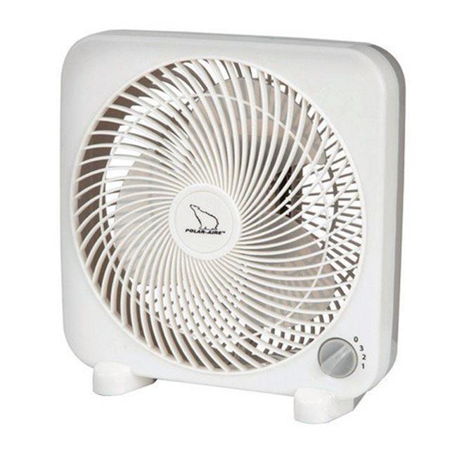 Polar Aire  Air Circulator  8 in H x 8 in W 3 speed Electric  Black
