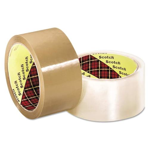 3M MMM2120013679 Scotch 371 Industrial Box Sealing Tape, Clear, 48 mm x 50 M