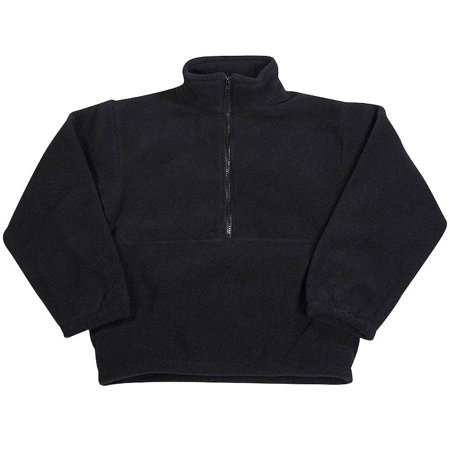 - Kaynee - Little Boys Polar Fleece 1/2 Zip Pullover Black / 4