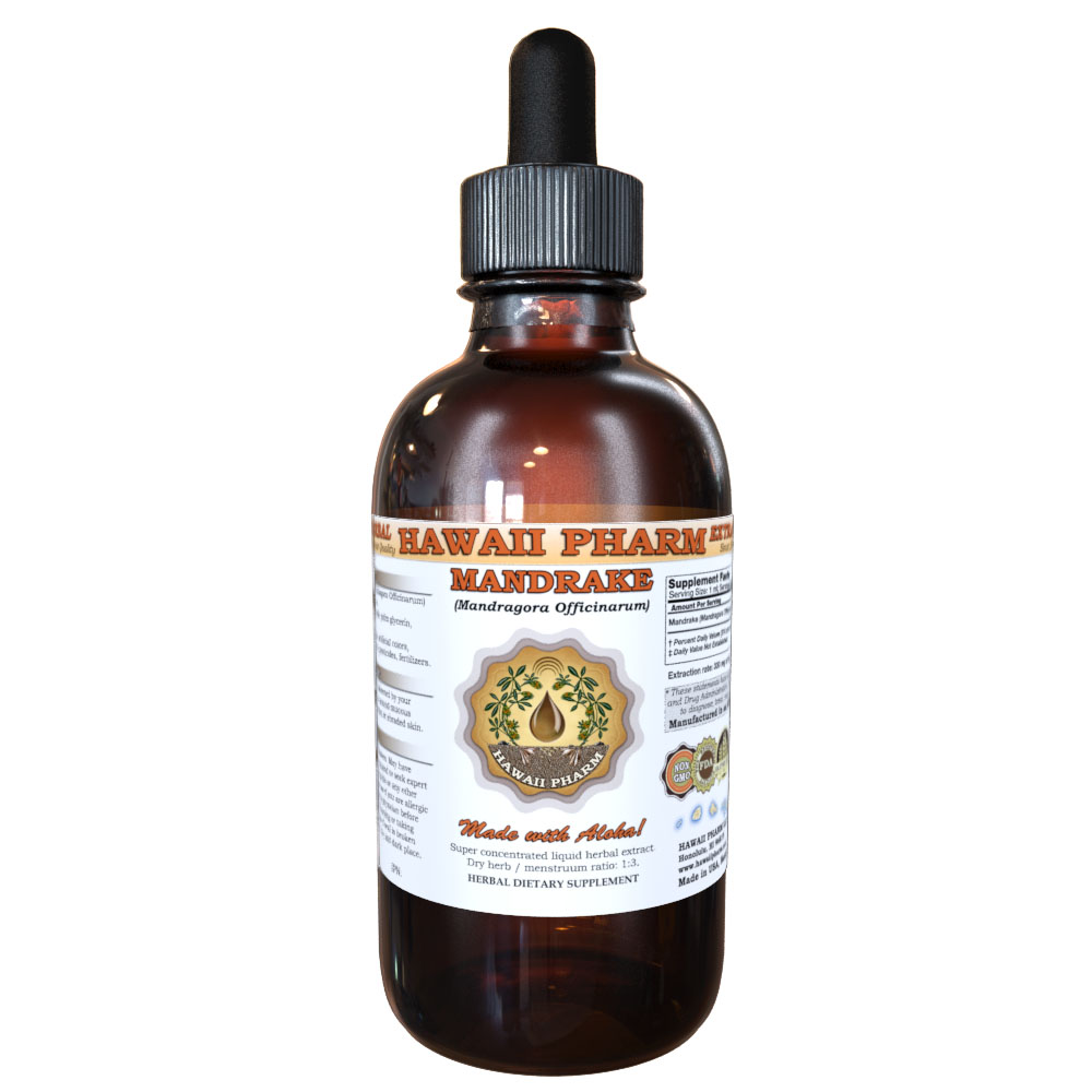 Mandrake (Mandragora Officinarum) Tincture, Dried Root Liquid Extract, Erowid Mandrake, Herbal Supplement 2 oz