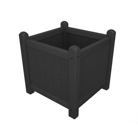 16 Plastic Planter - POLYWOOD® Traditional 16 in. Square Recycled Plastic Garden Planter