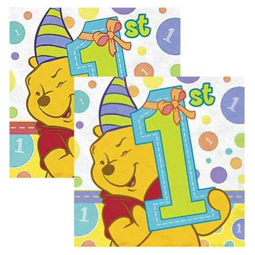 Winnie the Pooh Boy or Girl 1st Birthday Small Napkins (16ct)