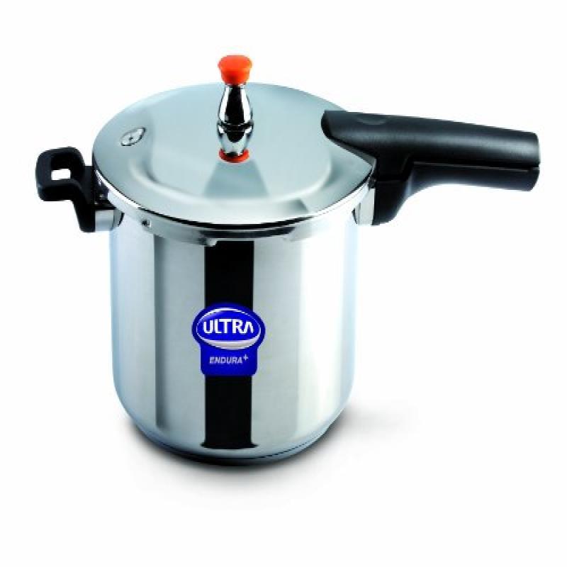 Elgi Ultra EU-8L Stainless Steel Pressure Cooker, 8-Liter