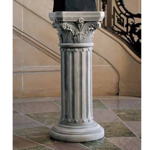 Design Toscano The Athena Corinthian Pedestal Plant Stand by Design Toscano
