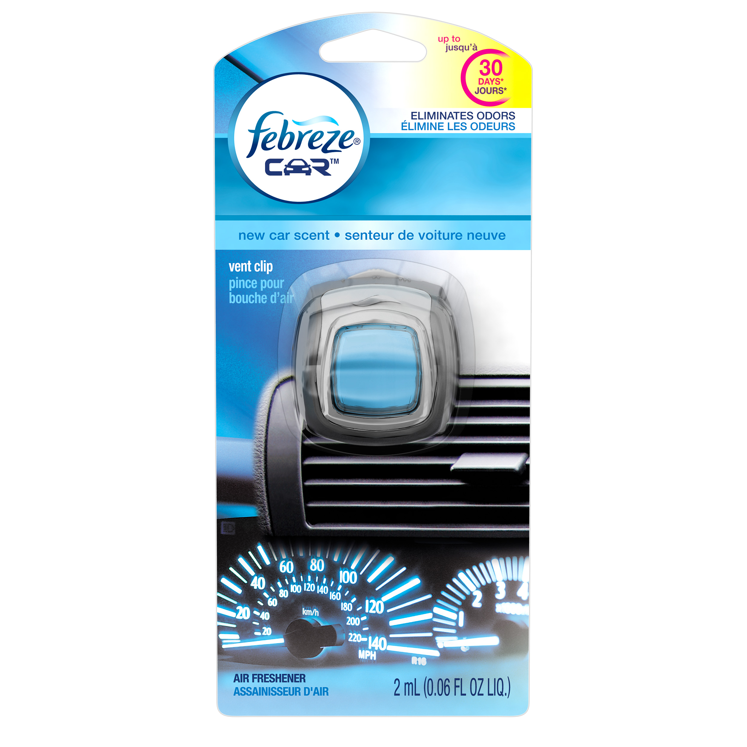 Febreze CAR Air Freshener New Car Scent (1 Count, 0.06 Oz)