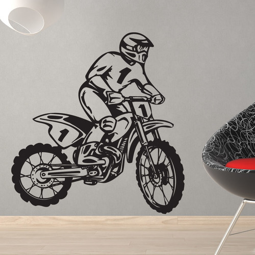 Style and Apply Dirt Bike Rider Wall Decal