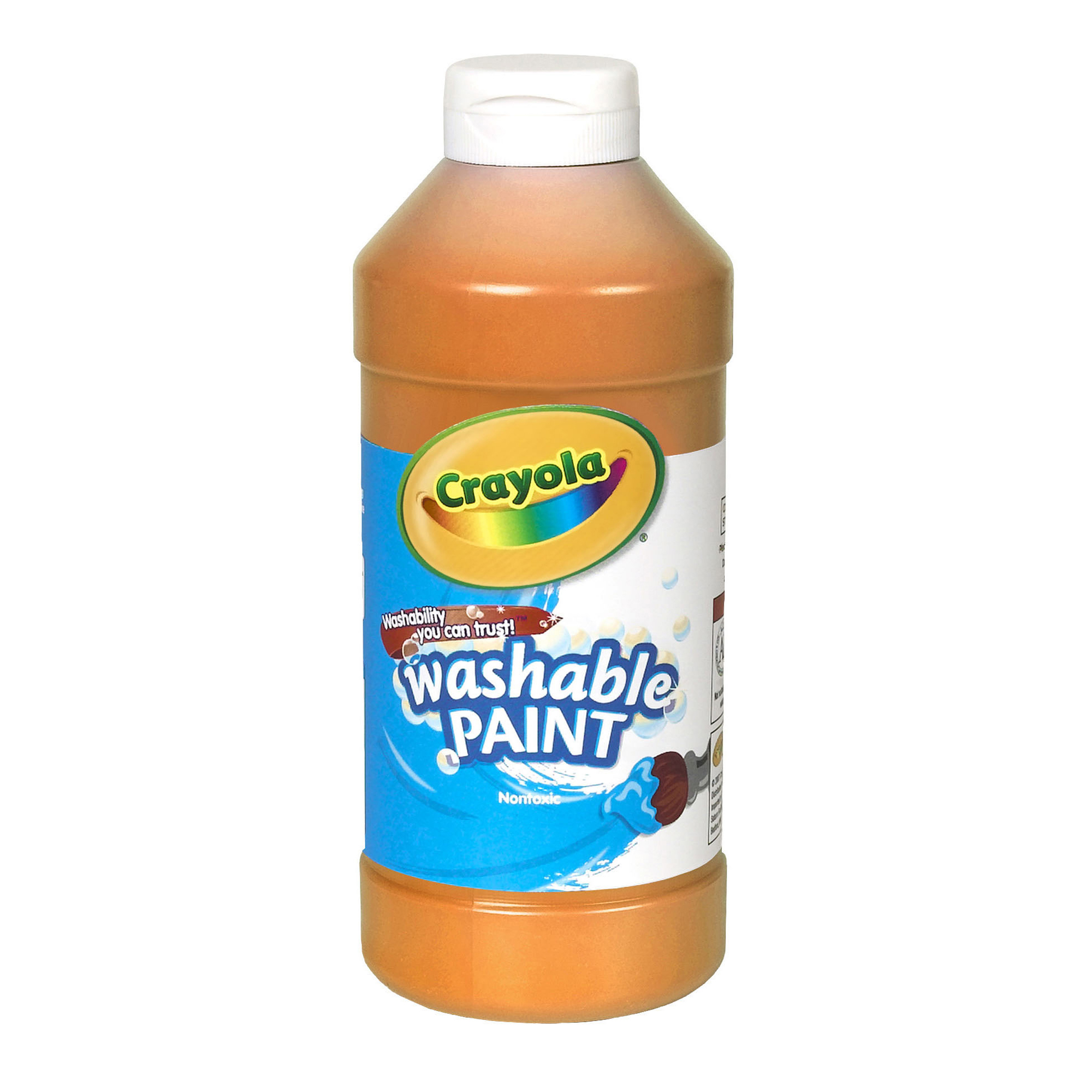 Crayola® Washable Paint, Orange, 16 oz., Set of 6 bottles