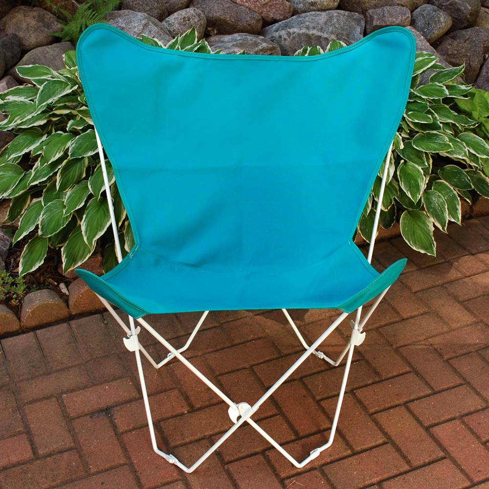 Butterfly Chair & Cover Combination with White Frame